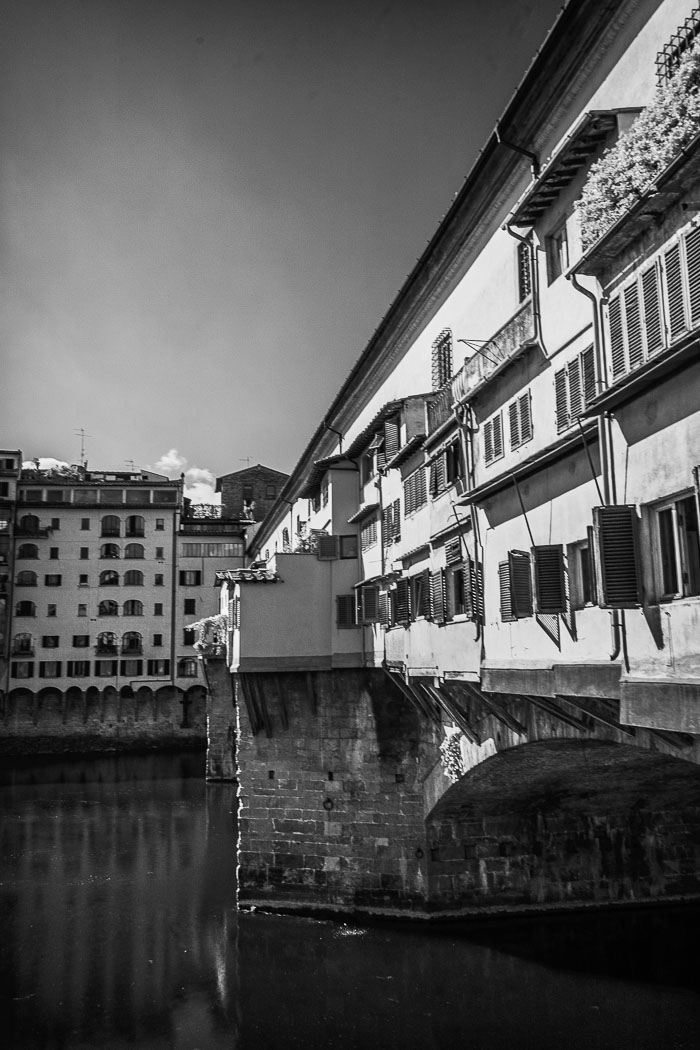 Ponte Vecchio, Florence, Italy. Digital Infrared