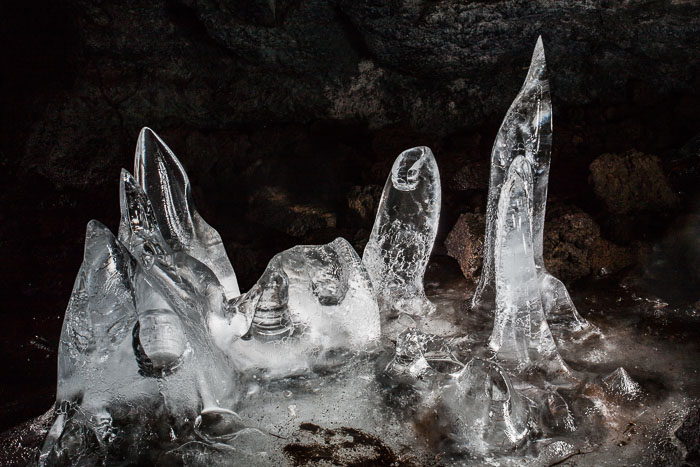flash painting in an ice cave